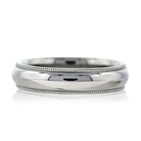 white gold milgrain mens wedding band ring boca raton