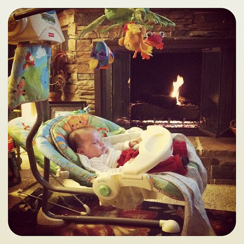 swinging and sleeping by the fire. can you say spoiled?