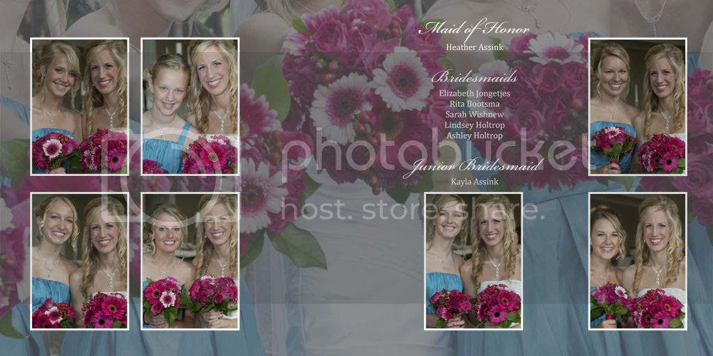 Bridesmaids Wedding Album Layout
