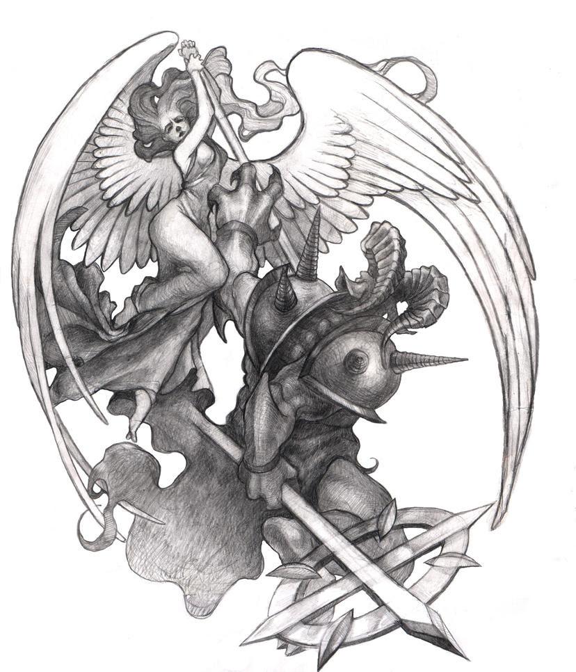 Pictures Of Good Vs Evil Sketches Wwwkidskunstinfo