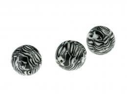1x Monochrome Polymer Clay Focal Beads 17mm