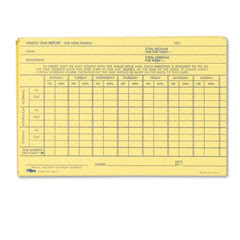 Employee Time Report Card, Weekly, 6 x 4, 100/Pack - Welcome to ...