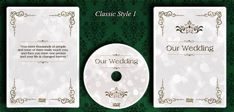 Custom Made Wedding DVD/CD Case with printed Disc