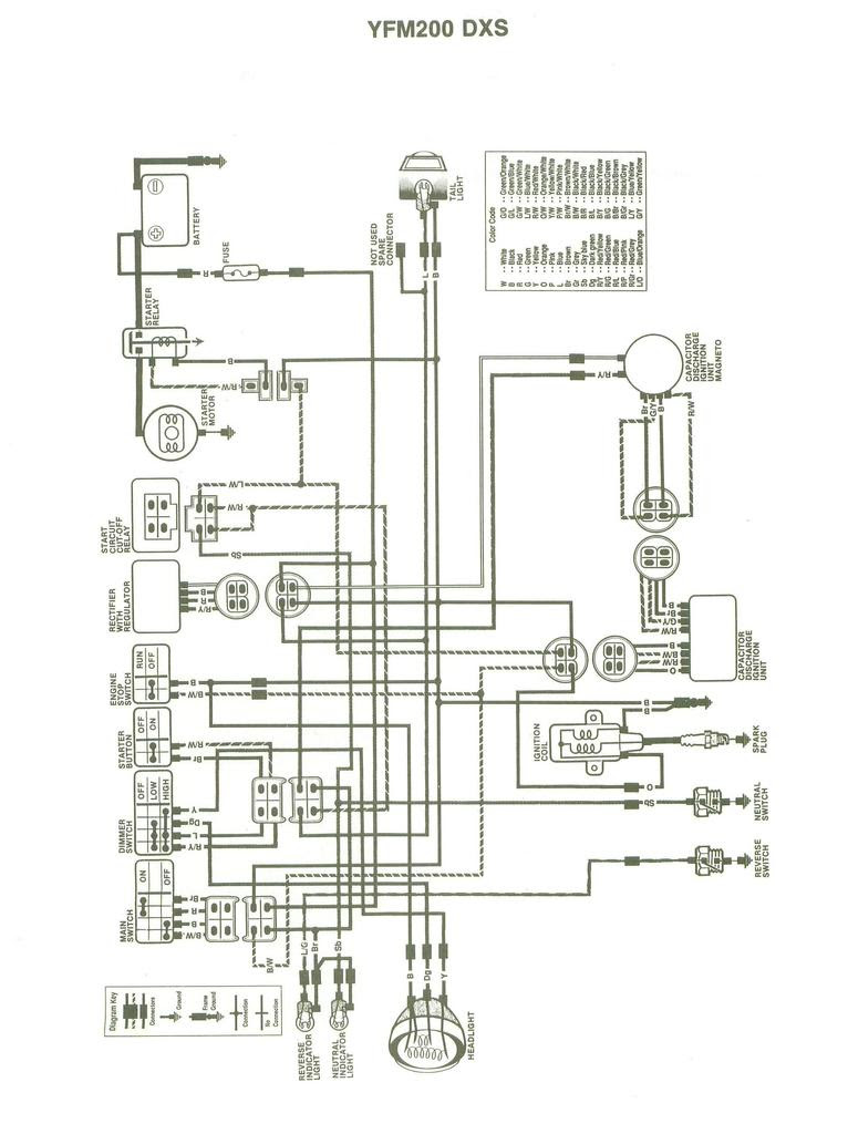 YAMAHA BLASTER LIGHT WIRING - Auto Electrical Wiring Diagram