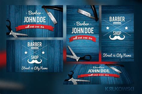 Barber Business Card Template ~ Business Card Templates on