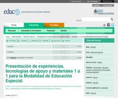 Presentación de experiencias, tecnologías de apoyo y materiales 1 a 1 para la Modalidad de Educación Especial.