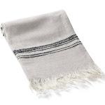Marlowe Pure Linen Turkish Hand / Kitchen Towel, Beige with Black Stripes