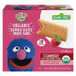 Earth's Best Sesame Street Organic Sunny Days Snack Bars, Strawberry - 18ct