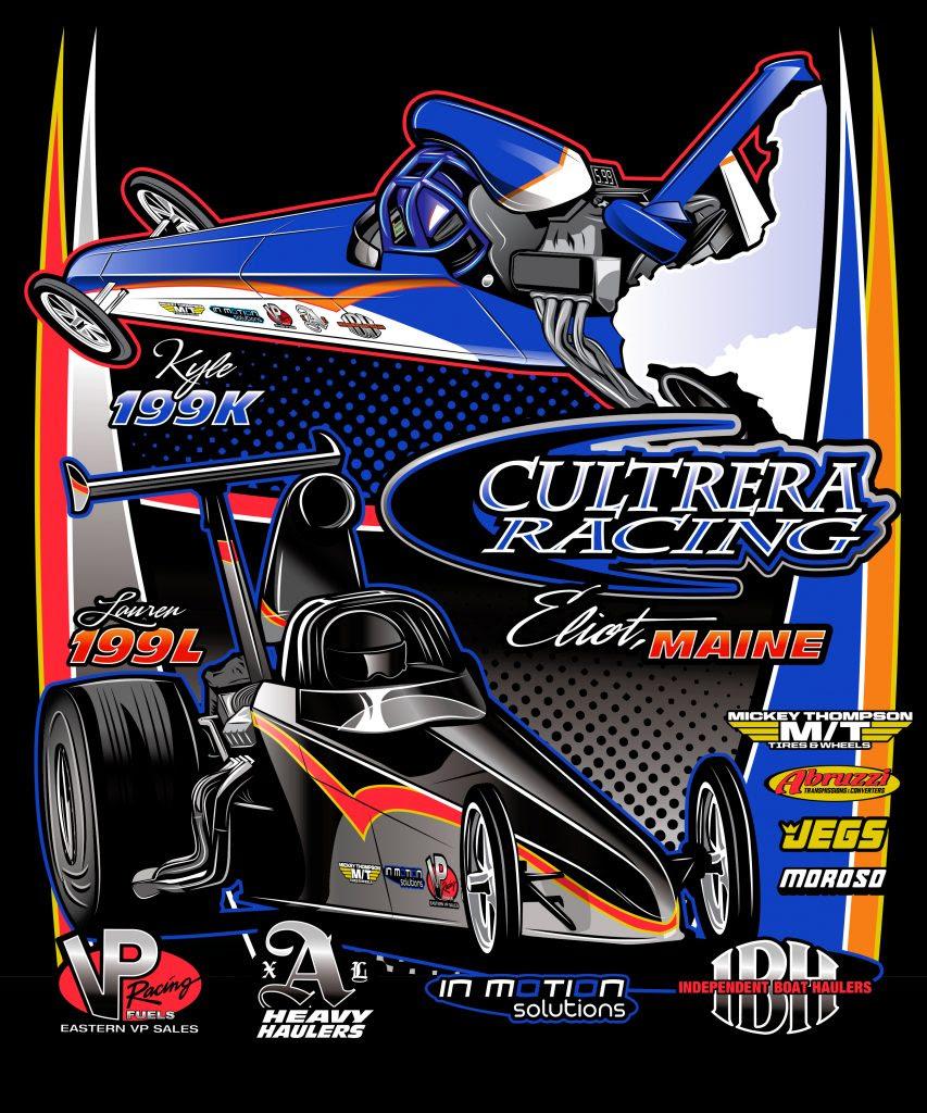 T-Shirt Design: Cultrera Racing NHRA Top Dragster - In ...