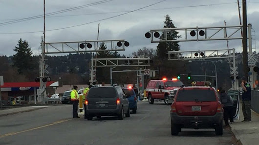 Police investigating after man hit by train in Spokane Valley