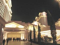 Vista exterior del Caesar Palace