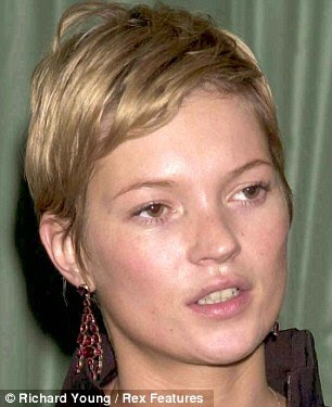 In 2001, Kate is fuller faced - and also Britain's wealthiest supermodel