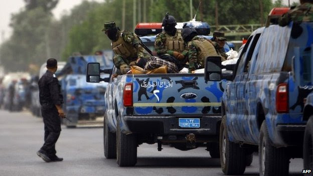 Iraq security forces move towards Mosul on 8 June 2014