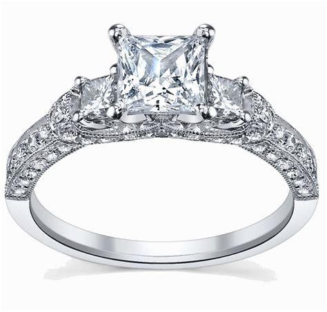Glamorous Antique Engagement Ring 1.00 Carat Princess Cut