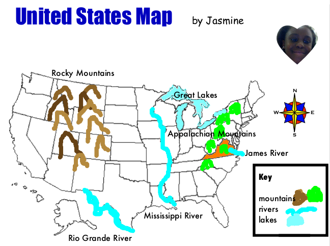 Map Of United States 2nd Grade - Direct Map
