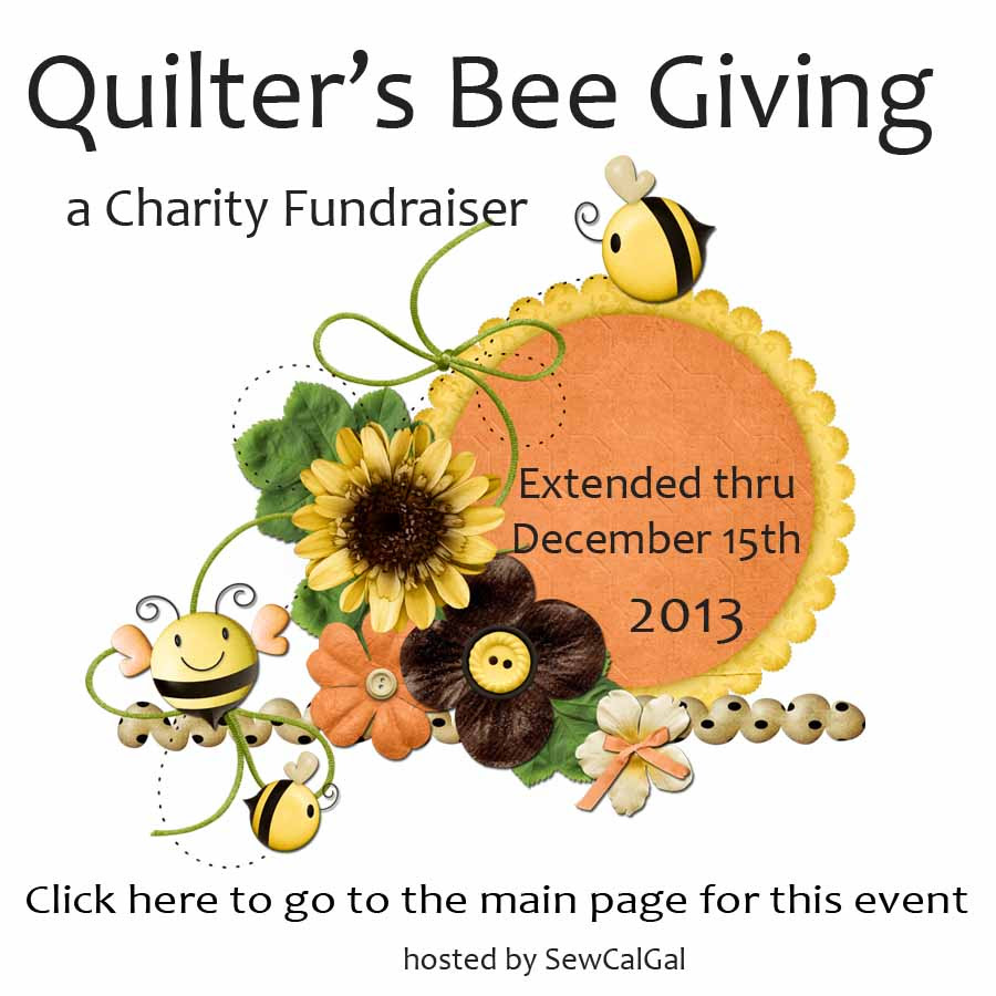 quilter's bee giving main page button