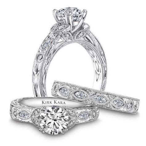 "Kirk Kara ""Dahlia"" Marquise Cut Side Stone Diamond"