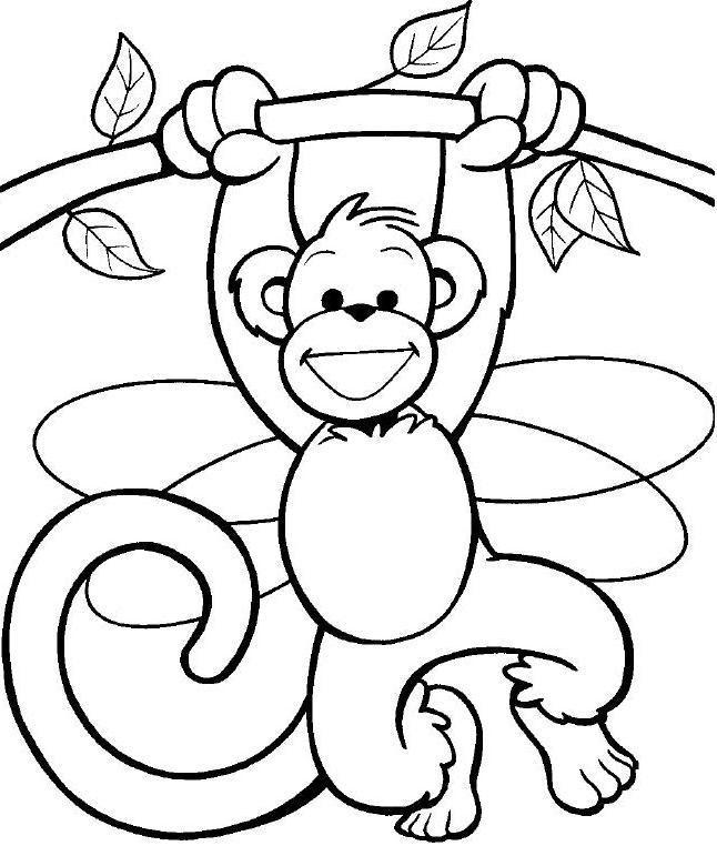 Imagenes De Monos Para Colorear Pintar Imágenes Az Dibujos Para