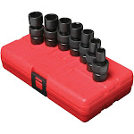 Sunex 3/8in Dr. 7 pc. Metric Universal Impact Socket Set