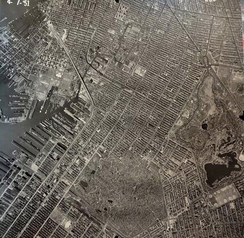 Aerial view of neighborhood 1951