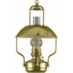 "18"" Gold and Clear Traditional Oil Clipper Lamp by Christmas Central"