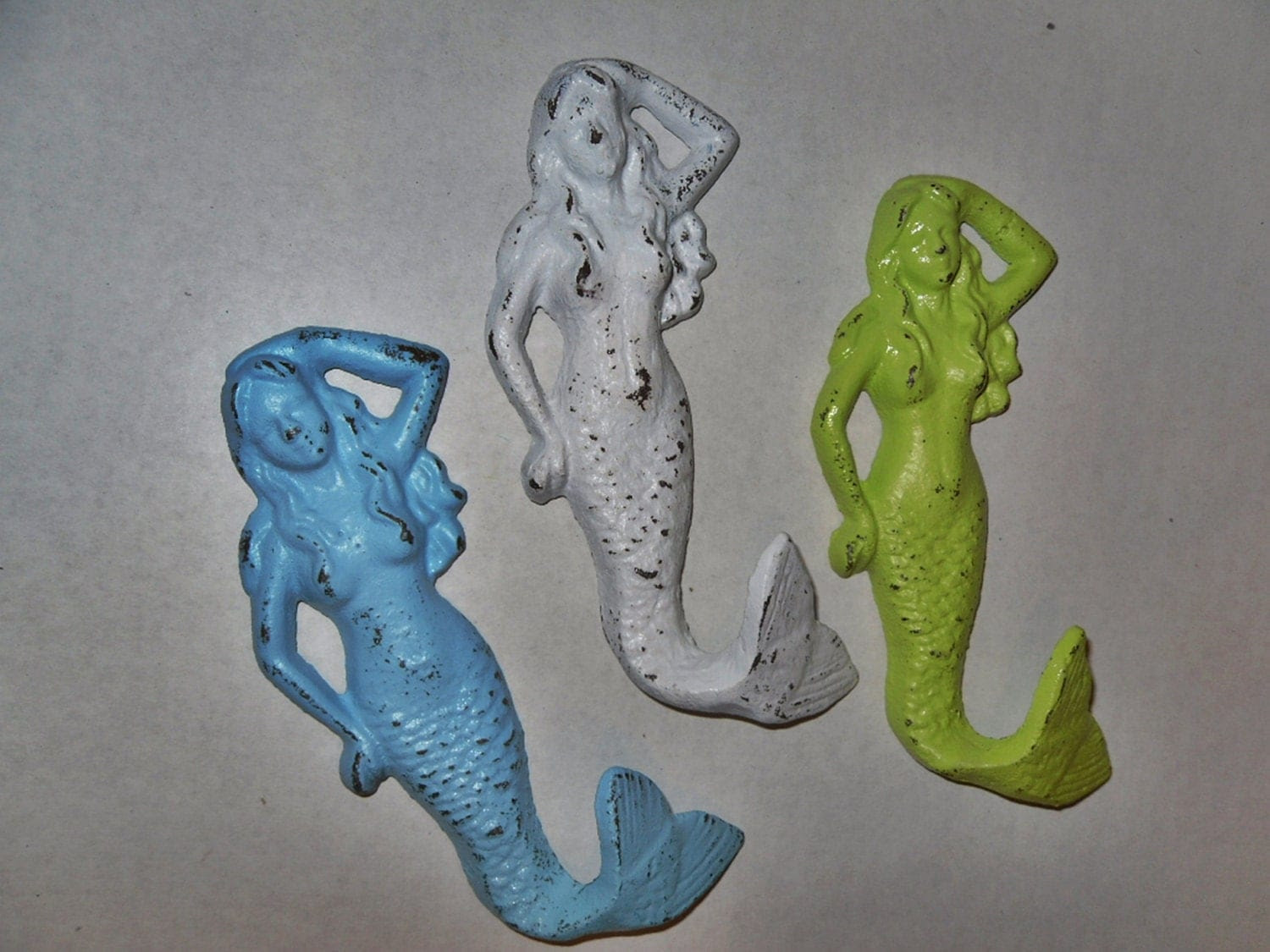 Mermaid Hook / Wall Hook / Towel Hook / Bathroom by Theshabbyshak