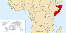 Localização da Somália