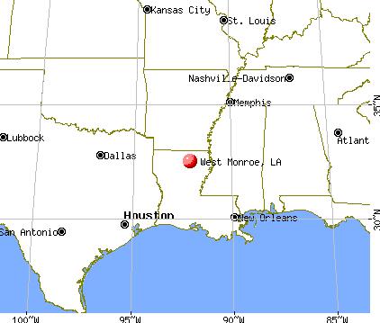 map of monroe louisiana Monroe Louisiana Map Time Zones Map map of monroe louisiana