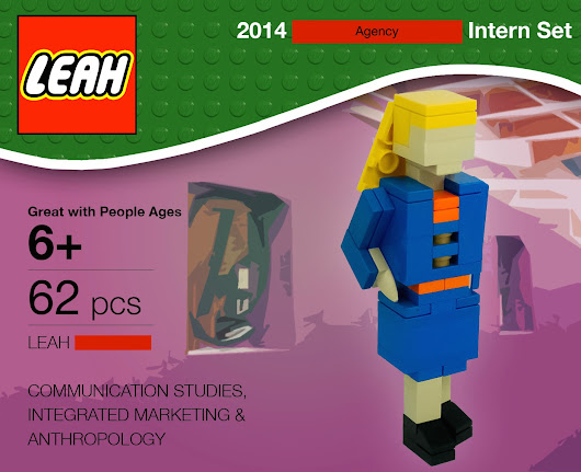 Resume in the form of a custom Lego figure