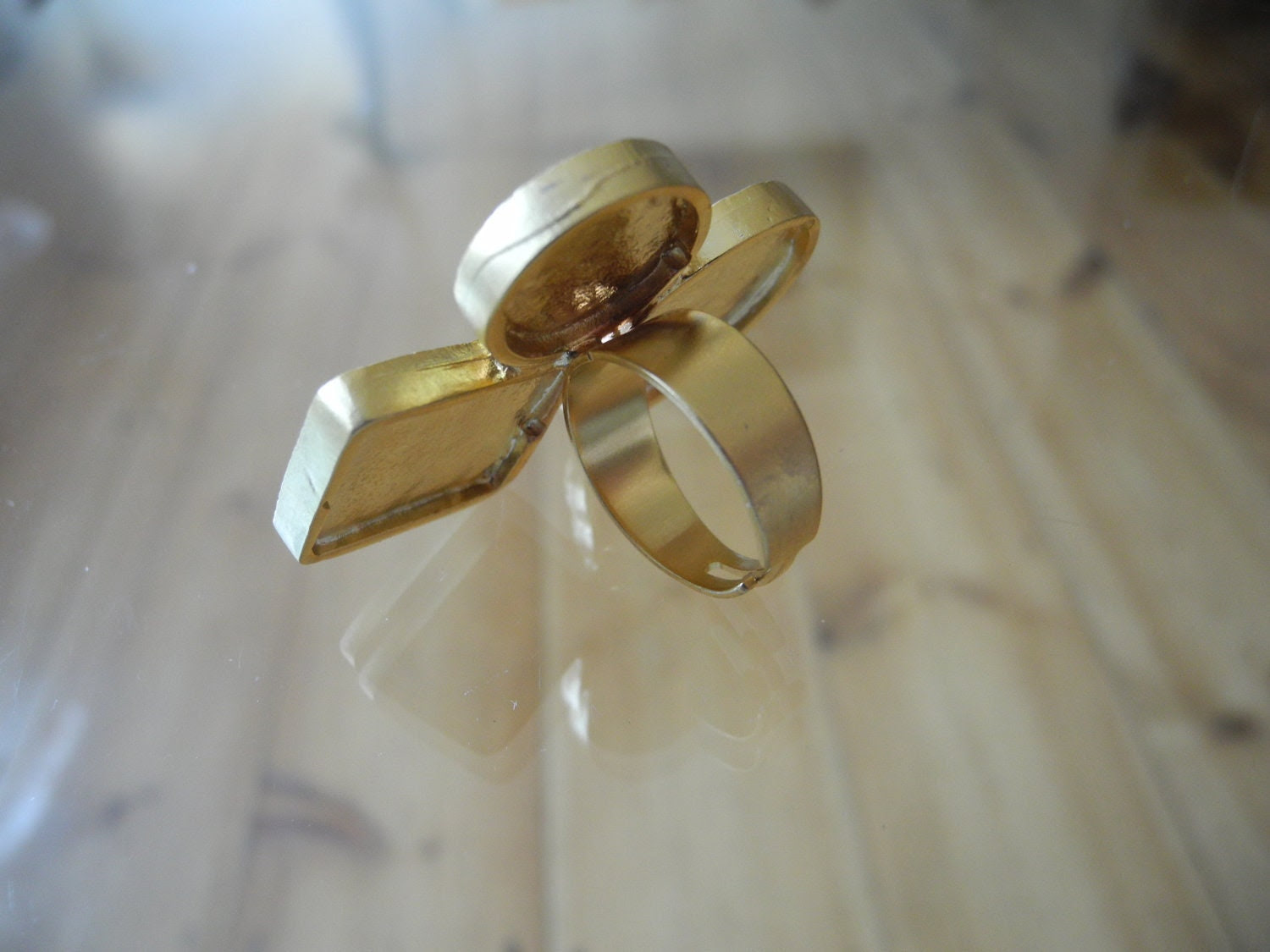 calligraphy ring gold plated