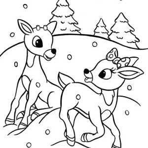 rudolph santa claus christmas coloring pages for kids