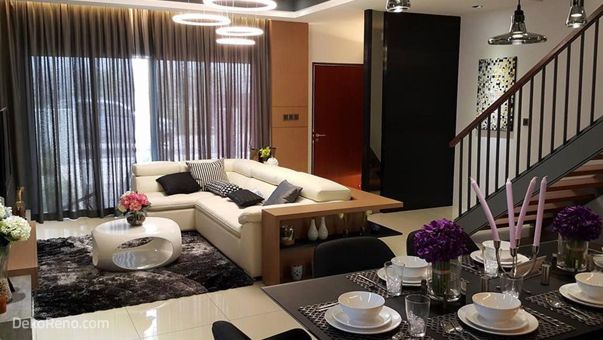 Design Ruang Tamu Rumah Teres 2 Tingkat