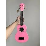 21 inch Mahogany Soprano Ukulele Hawaiian Guitar, pink / 21 inches