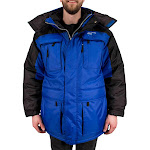 Freeze Defense Men's 3in1 Winter Jacket Coat Parka & Reversible Vest (Small, Blue)