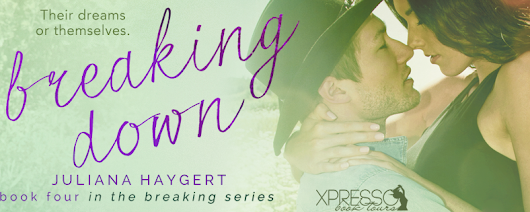 COVER REVEAL - Breaking Down by Juliana Haygert + $15 STARBUCKS GC GIVEAWAY