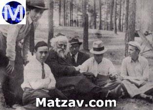 Rav Boruch Ber with talmidim.