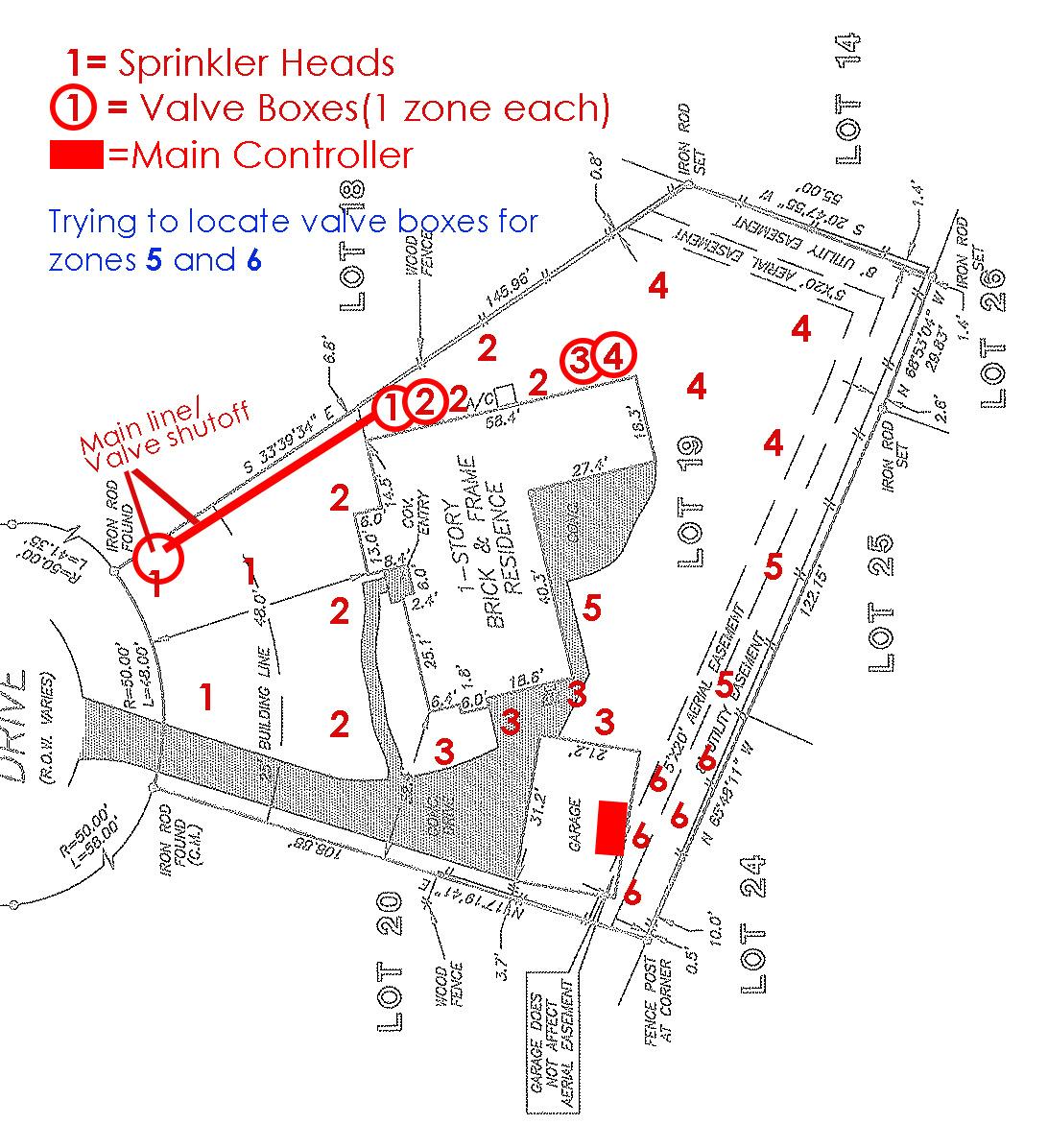 Sprinkler Valve Locations   LawnSite