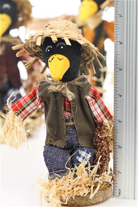 Fall Halloween Crow Scarecrow   Table Decor   Fall and