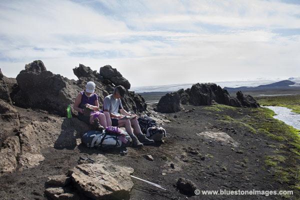 01M-0379 TEMP Rest Stop on the Edge of the Myrdalssandur Iceland