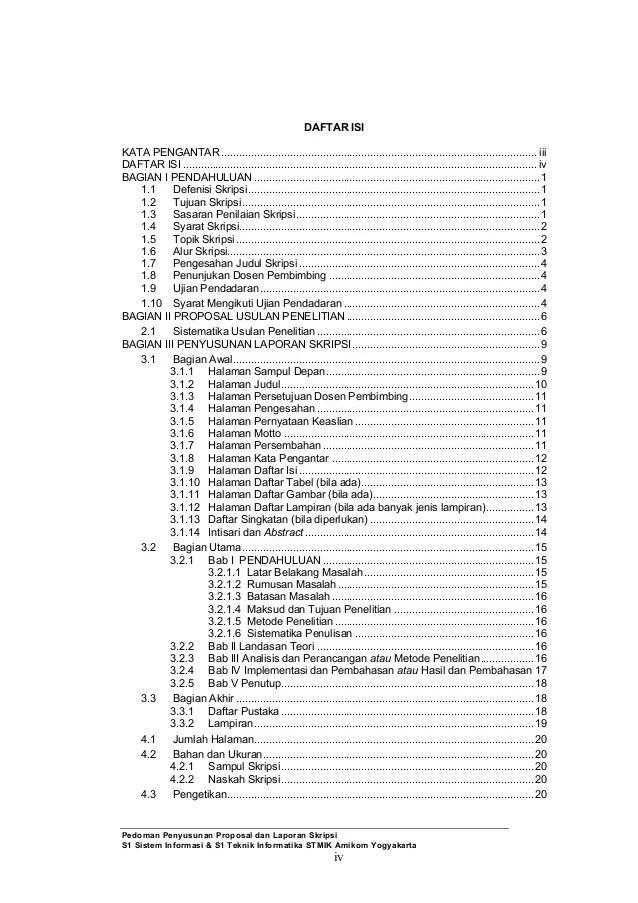 Contoh Daftar Isi Karya Ilmiah Pendidikan 15 Hontoh