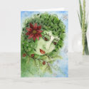 Poinsettia Holly Nymph Card