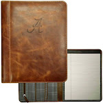 Alabama Crimson Tide Bama Padholder Tan Genuine Leather Padfolio