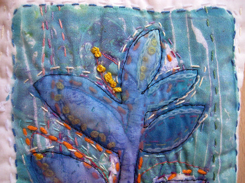 blue leaves ~ detail