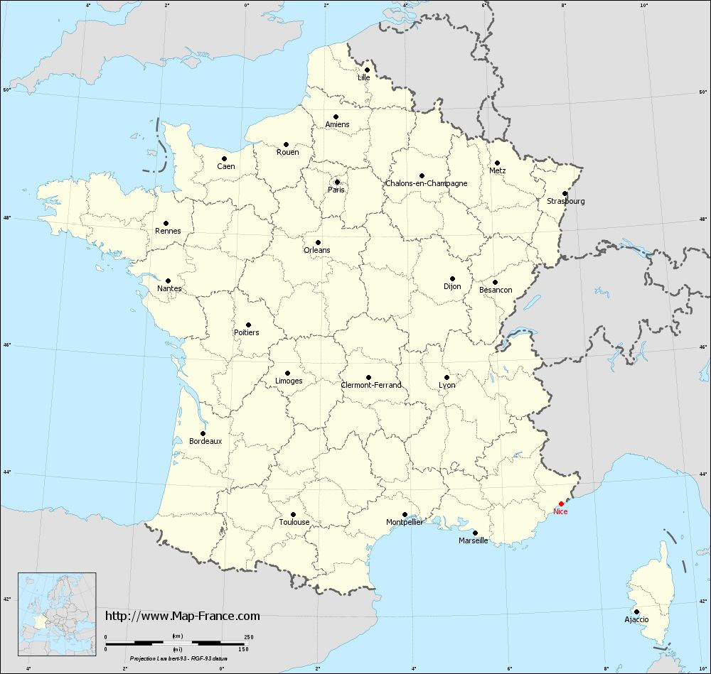 Nice France Map Nice France Map