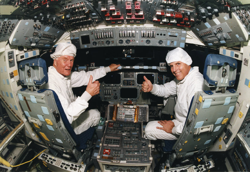 Image result for john glenn discovery flight