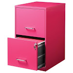 Pemberly Row 2 Drawer File Cabinet with Storage in Pink - PR-1618673