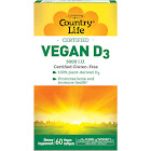 Country Life Vegan D3 Dietary Supplement, 5000 IU, Softgels - 60 count