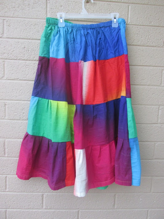 halloween rainbow skirt