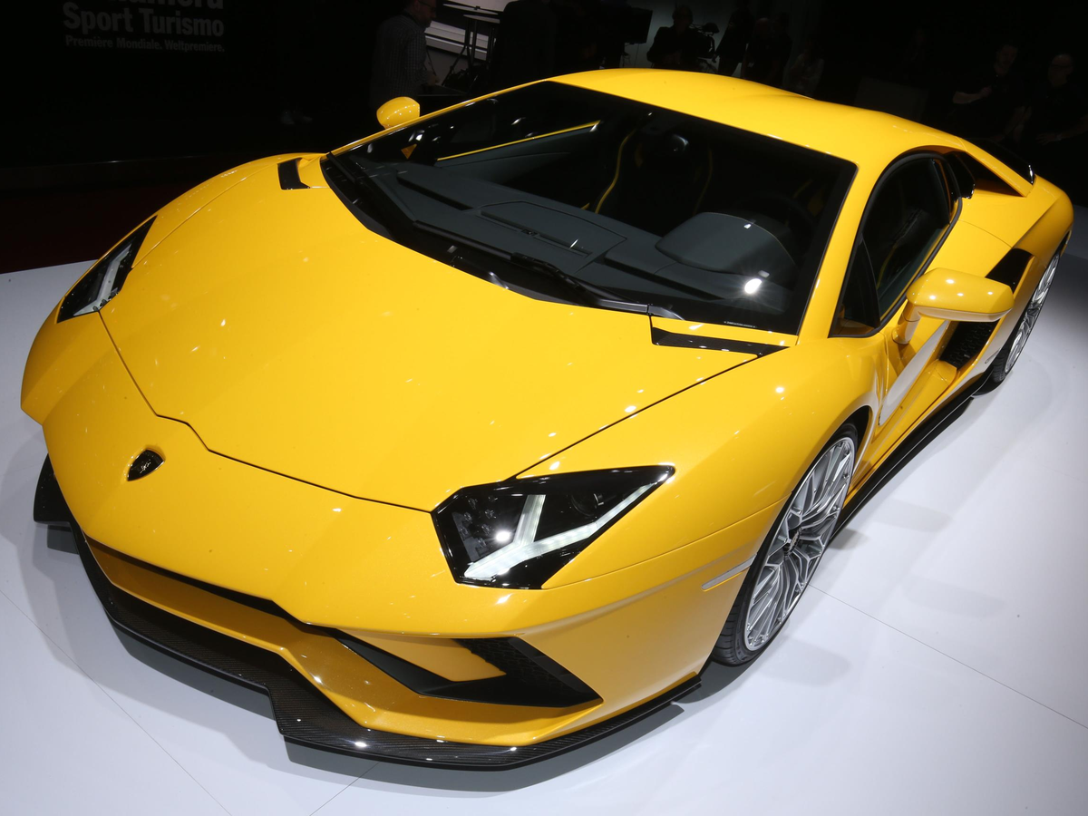 Lamborghini showed off an updated version of its flagship supercar called the Aventador S.