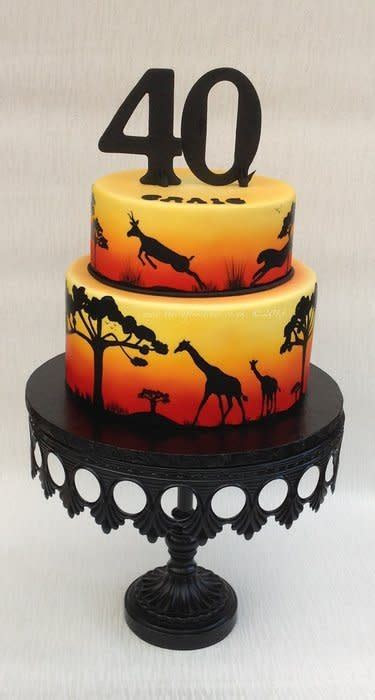 African Sunset   cake by The Crafty Kitchen   Sarah